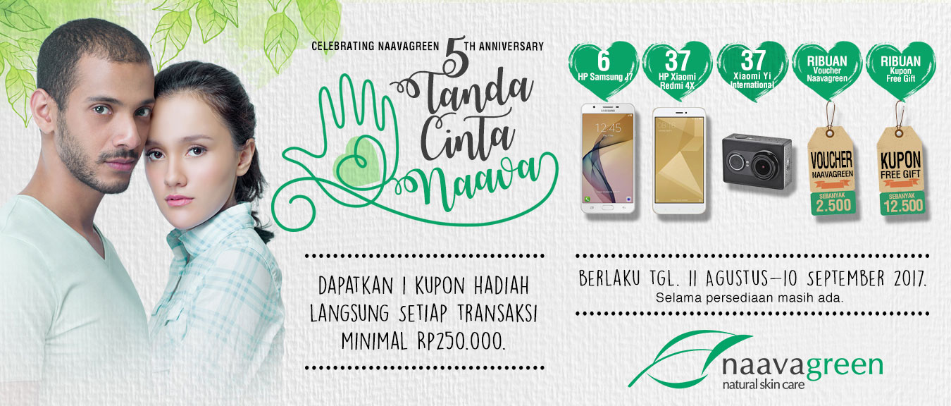 Celebrating Naavagreen 5th Anniversary 5 Tanda Cinta Naava